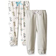 Bon Bebe Baby Best Friends 2 Pack Assorted Pant Set, Neutral, 6-9 Months