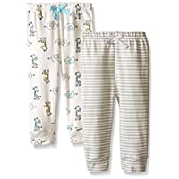 BON BEBE Baby Best Friends 2 Pack Assorted Pant Set, Neutral, 3-6 Months