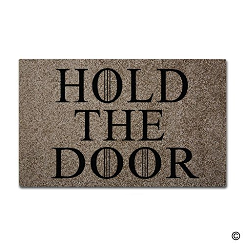 BLINY Funny Doormat Hold The Door,Non-slip Home Office...