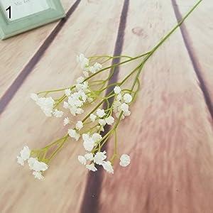 YHCWJZP 1 Pc Gypsophila Fake Plastic Artificial Flower Wedding Bridal Party Home Decor - White 9