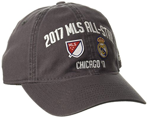 adidas MLS All Star Adult Men MLS All Star Dueling Adjustable Slouch Hat, One Size, Gray (Retro Slouch Adjustable Hat)