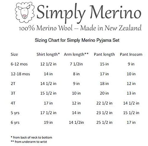 Merino Wool Kid White boy and Girl. Thermal Underwear Base Layer Unisex. Size 6 by Simply Merino (Image #9)