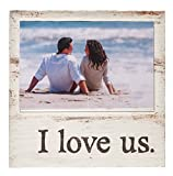 I Love Us Whitewash 7 x 7 Wood Box Wall Photo Frame Plaque