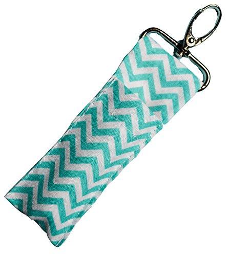 lip-balm-chapstick-keychain-pouch-lanyard-strap-turquoise-chevron-fob-lipstick