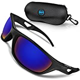 BLUPOND Polarized Sports Sunglasses for Men - TR90 Unbreakable Frames for Golf Cycling Driving - Scout