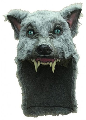 Deluxe Grey Werewolf Mask Headpiece by Creative Collection (Wolf Masks For Adults)