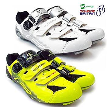 VeloChampion Zapatillas de ciclismo (par) VCX con planta de fibra de carbono Fluoro Yellow/Black 41 GppU7Q