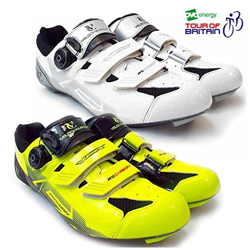paire Black semelles White avec Chaussures VCX Shoes carbone VeloChampion cyclistes fibres Cycle de Silver Zqwg1xt