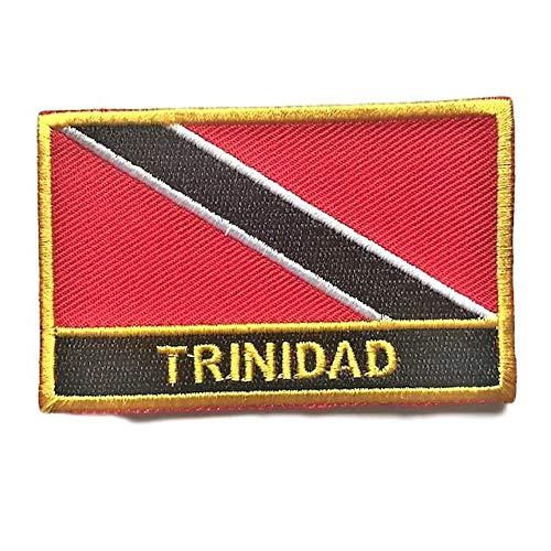 Trinidad & Tobago Flag Sew On Patch (Trinidad Iron-On w/Words)