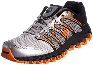 K-Swiss Men's Tubes Run 100 A Silver/Black/Orange Trainer
