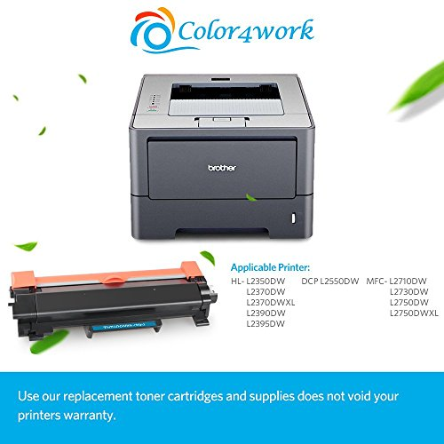 Color4work Compatible Brother High Yield  Toner Cartridge TN760 TN-760 Black, 1-Pack, use with DR730 Drum Unit for HL-L2350DW DCP-L2550DW MFC-L2710DW MFC-L2750DW HL-L2395DW HL-L2390DW HL-L2370DW Photo #6