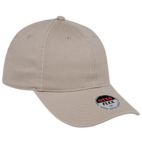 - OTTO Flex Garment Washed Cotton Twill 6 Panel Low Profile Baseball Cap - Khaki