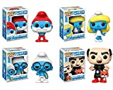 Funko Animation POP! Smurfs Papa Smurf Smurfette Brainy Smurf Gargamel Collectible Set