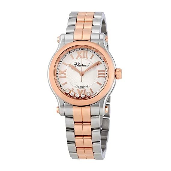4eec3faa8 Image Unavailable. Image not available for. Color: Chopard Happy Sport 18K  Rose Gold Two-Tone Automatic ...