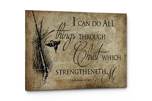 Bible Verse I Can Do It All Wall Art Quote, Christian Religious Wall Decor (I Can Do All, 17