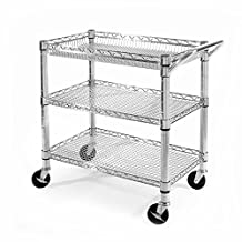 Seville Classics SHE99307ZB Heavy Duty Utility Cart with PP Boards