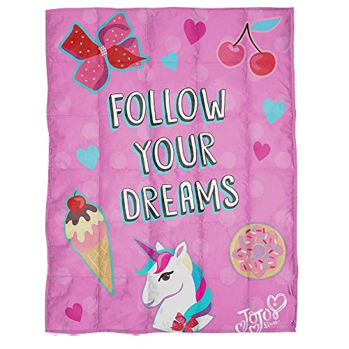 Cheap Jay Franco Nickelodeon JoJo Siwa Follow Your Dreams Weighted Blanket 5 lbs - Measures 40 x 60 inches Kids Bedding - Fade Resistant Super Soft Velboa - (Official Nickelodeon Product) Black Friday & Cyber Monday 2019