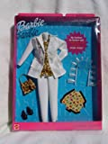 Barbie Fashion Avenue White Vinyl Two Pc Suit with Leopard Blouse (1999)