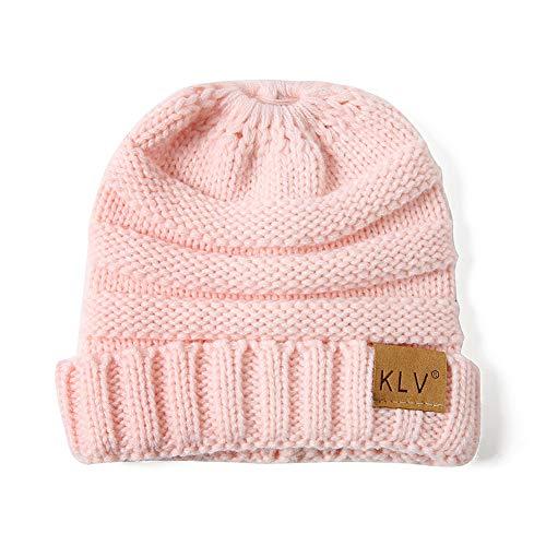Hija Invierno E E para Padres pink Madre WGFGQX Cálido Tejida Hijos Gorra Sombrero tqC15Exw
