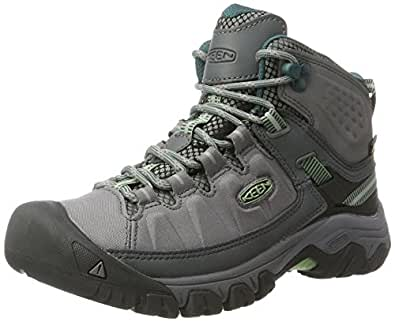 KEEN Womens Targhee Exp Mid WP Steel Grey/Basil 6 B - Medium