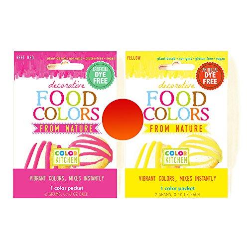 ColorKitchen 0.1 oz. Food Color Packet Combo - ORANGE & RED (Pink + Yellow) by ColorKitchen