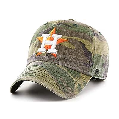 '47 Houston Astros Camo Clean Up Dad Hat Adjustable Slouch Cap
