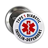 type 1 diabetes pins - TYPE 1 DIABETIC Insulin Dependent Medical Alert 2.25 Pinback Button Badge