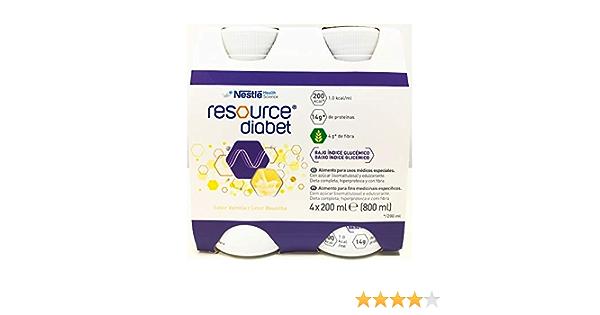 Resource Diabet Vainilla 200 ml x 4: Amazon.es: Salud y ...