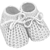 Baby 0-3 Months Super Soft Knitted Sock Boots (White)