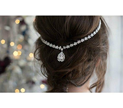 Bridal Headpiece Head Chain, Crystal Headband, Goddess Hair Chain, Wedding Hair Accessories, Designer Jewelry