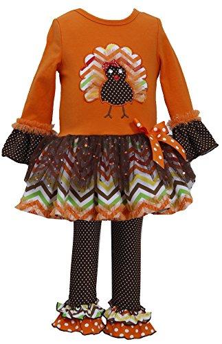 Bonnie Jean Girls Leopard Brush Knit Dress Legging Outfit, Brown, 18M -