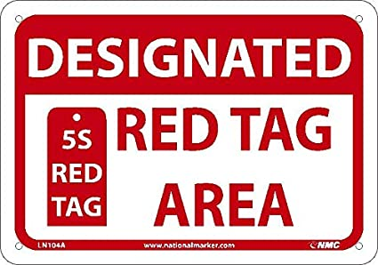 Amazon.com: NMC LN104A área de etiqueta roja designada ...