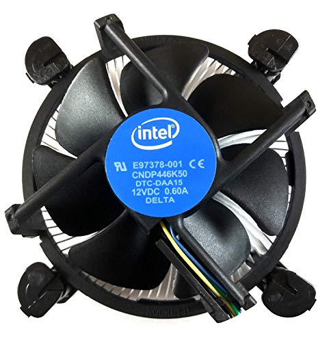 Intel Core i3 / i5 / i7 Socket 1156/1155 / 1151/1150 4-Pin Connector CPU Cooler with Copper Core Base & Aluminum Heatsink & 3.5-Inch Fan with Pre-Applied TRONSTORE Thermal Paste (TS1)