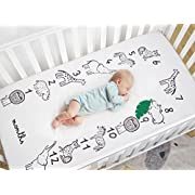 TILLYOU Microfiber Crib Sheet, Silky Soft Floral Toddler Sheets For Baby Girls, Lovely Breathable Cozy Hypoallergenic, 28 x 52in