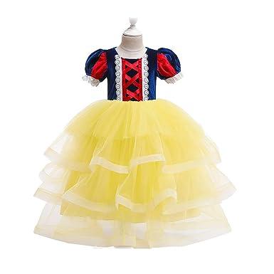 MX kingdom Vestido de Fiesta Niña,Disfraz de Blancanieves ...