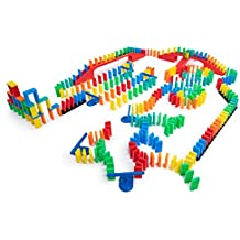 Bulk Dominoes 329 pcs Kinetic Dominoes Large PRO-Scale Stacking Building Toppling Chain Reaction Dominoes Set for Kids and Creators
