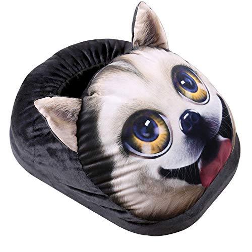 LIBINA - Bandas de calor Calzado eléctrico, Calentador de Pata de Gato para Perros con impresión 3D, Zapatillas de...