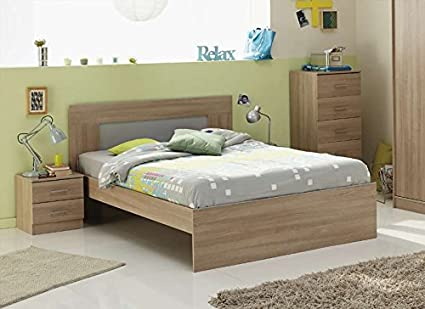 Tweepersoonsbed 140 Cm.Saga Wooden Bed 140 Cm Amazon Co Uk Kitchen Home