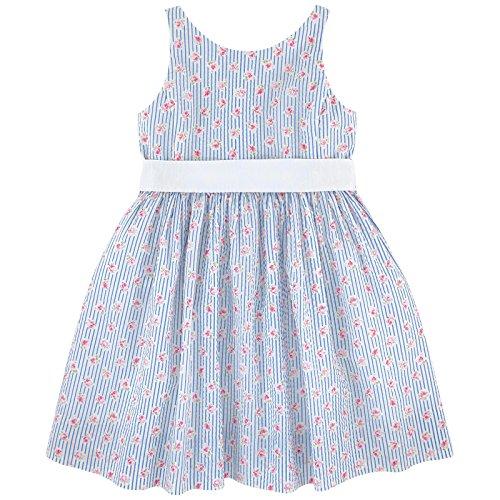 Ralph Lauren Girls Seersucker - Ralph Lauren Polo Girls Gingham Floral Seersucker Party Dress (2 2T)