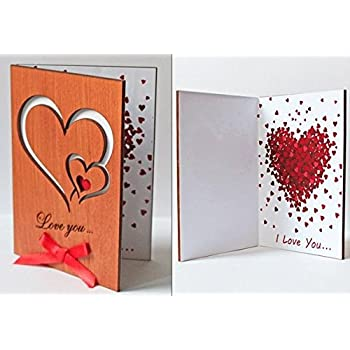 Amazon Love Card Imitation Wood Greeting Card For
