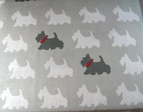 (Cynthia Rowely 3 Pc. Twin Flannel Sheet Set Scotty Dog 100% Turkish Cotton Flannel)