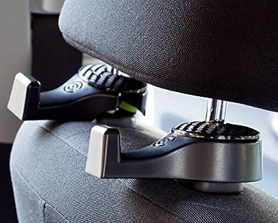 Headrest Hooks - Premium Car Seat Hangers Holders for Purse Bag with Locker