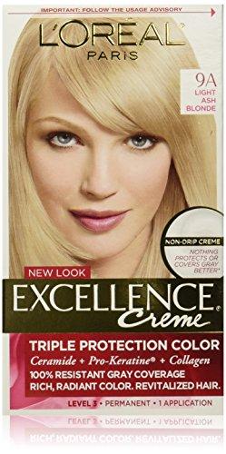 L'Oréal Paris Excellence Créme Permanent Hair Color, 9A Light Ash (Blonde Creme)