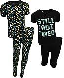 Freestyle Boys 4-Piece Snug Fit Pajama Set (2 Full Sets) Lightning, Size 10'