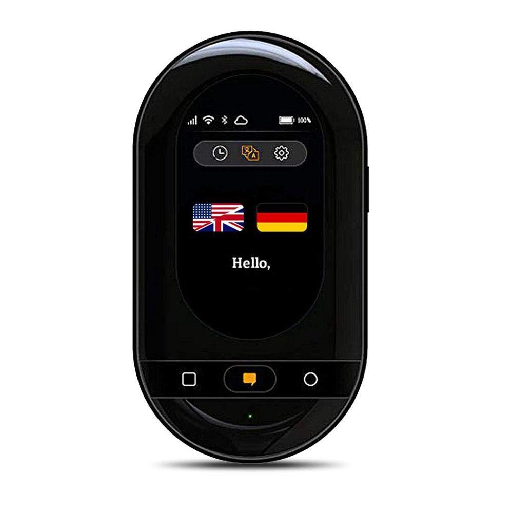 Goglor 電子翻訳機 105ヶ言語対応 双方向翻訳 音声翻訳 テキスト翻訳 タッチスクリーン Wifi ホットスポット オンライン/オフラインモード 旅行 出張 言語学習 ビジネス 会議に最適 ブラック  Black B07QLSK21C