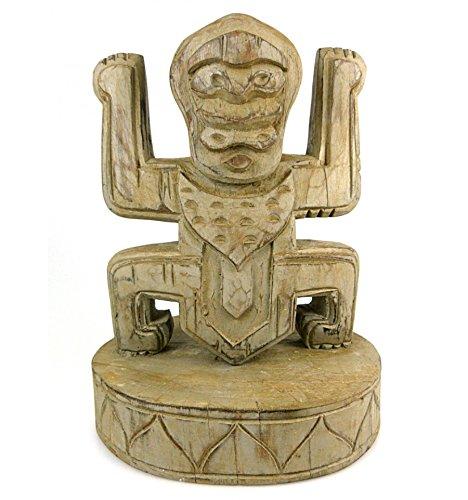 Artisanal Totem Style Koh Lanta en Bois - trophé e Statue Ethnique Chic.