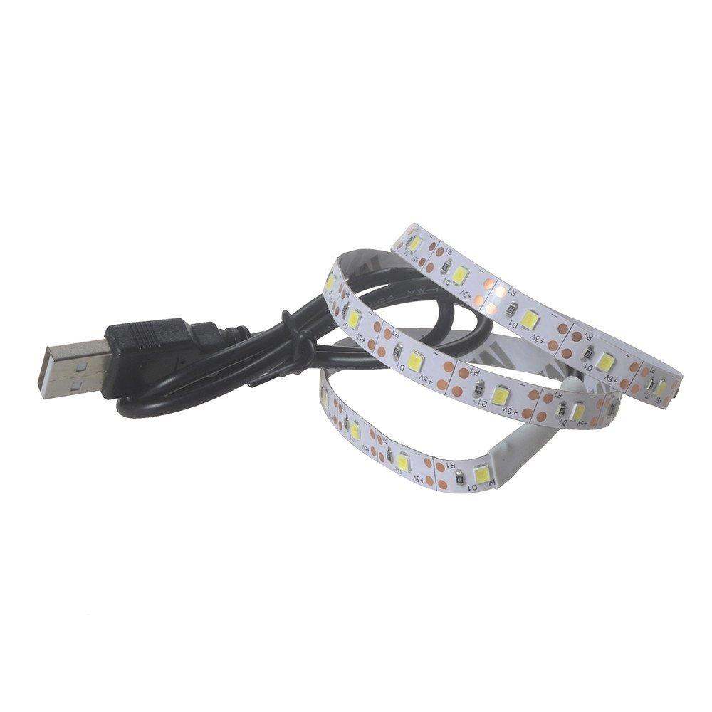 Witspace 5V 2835 30SMD/50CM LED Strip Light for KTV/Bar/Dodge RamTaillights, USB Led Light Strip for Car/Ceiling/Home/Kitchen (White) by Witspace (Image #2)