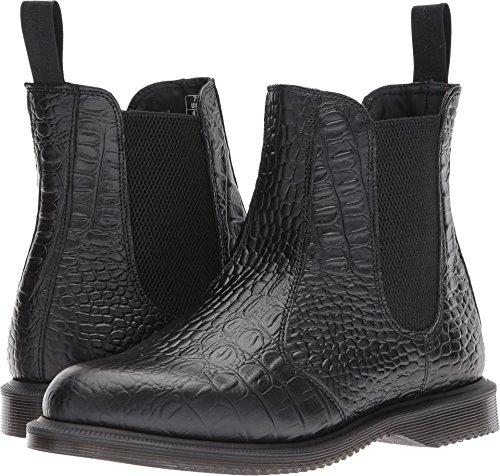 Dr. Martens Women's Flora Croc Chelsea Boot, Black, 4 Medium UK (6 US)