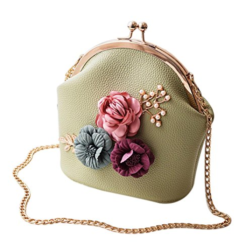Handbag Fashion Tote Purse Green Bag Bag by LMMVP Bag Women Crossbody Gift Flowers Ladies Shoulder Stereo Small XExO0ERqwC