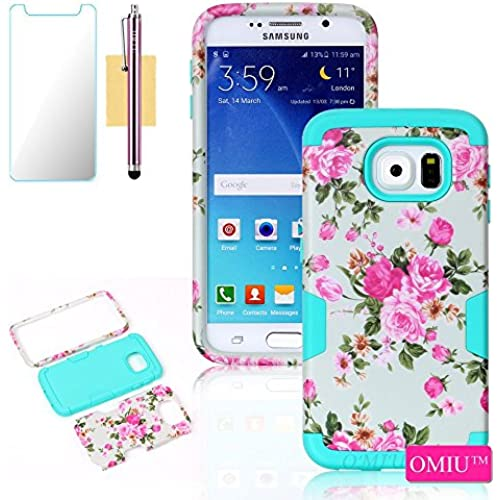 Galaxy S7 Case, S7 Case,OMIU(TM) Shock-Absorption Bumper Case Full-body 3 IN 1 Flower Design Fit For Samsung Galaxy S7, Sent Stylus, Screen Protector-(Mint) Sales